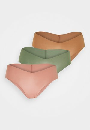 NO SHOW V CHEEKY SOLID 3 PACK - Briefs - confidence/olive fun/meadowbound