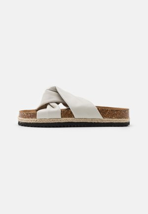 ONLMIRA KNOTTED FLATFORM  - Mules - white
