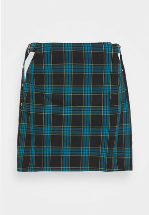 TRINTIY  - Mini skirt - teal lime black