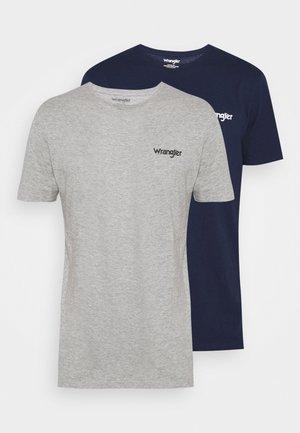 LOGO TEE 2 PACK - Jednoduché triko - grey/dark blue