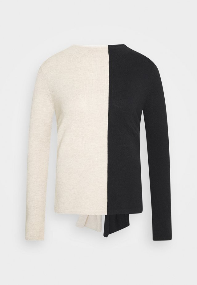 TAMILLY COLORBLOCK - Sweter - black