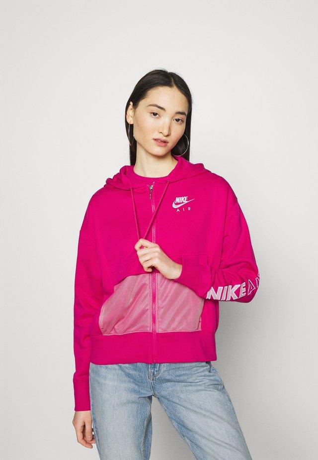 Zip-up sweatshirt - fireberry/white