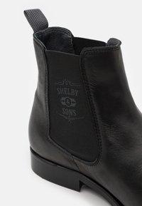 Shelby & Sons - NEDHAM CHELSEA BOOT - Kotníkové boty - black - 5