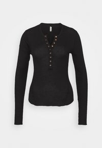 ONE OF THE GIRLS HENLEY - Maglietta a manica lunga - black