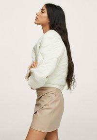 Mango - LEEREFFECT - Wrap skirt - licht/pastelgrijs - 4