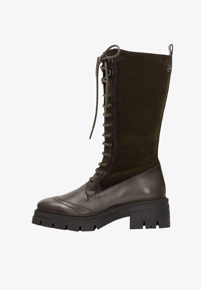 ALMANZOR  - Stivali con i lacci - army