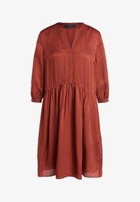 SET - LÄSSIGES MIT GERÜSCHTEM SAUM - Shirt dress - maroon - 5