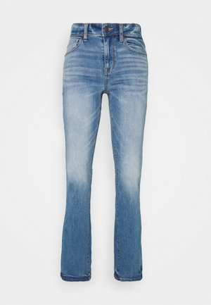 HI RISE SKINNY KICK  - Jeans a zampa - monaco blue