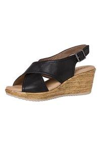 Jana - Wedge sandals - black - 2