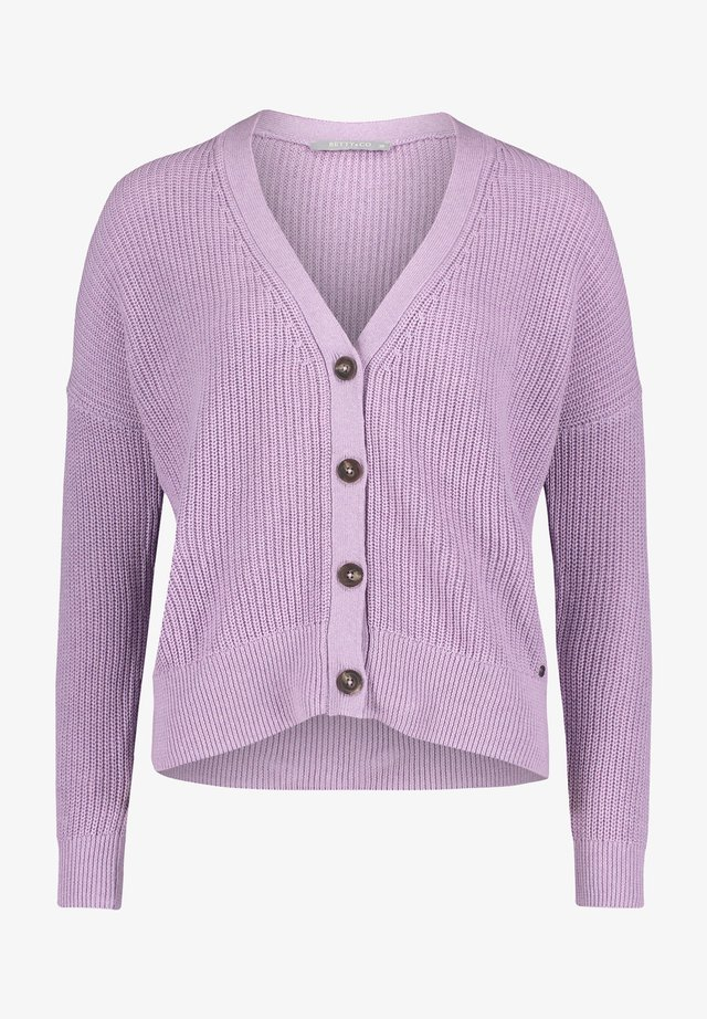 Cardigan - light purple melange