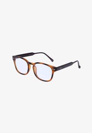 AUS RECYCELTEM KUNSTSTOFF IN SCHILDPATT OPTIK - Sunglasses - grau