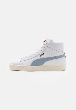 BASKET MID UNISEX - Sneakers hoog - white/forever blue/team gold