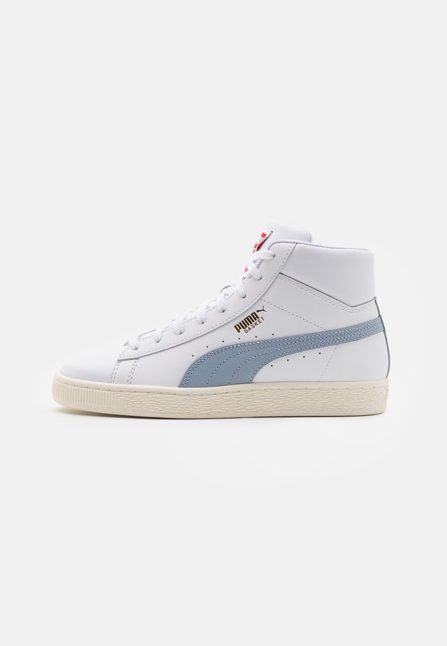 BASKET MID UNISEX - Sneakers alte - white/forever blue/team gold