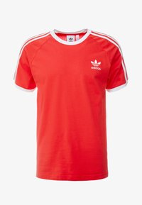 adidas Originals - 3 STRIPES TEE UNISEX - T-shirt z nadrukiem - lush red - 4