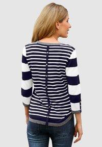 Laura Kent - Sweatshirt - marineblau,weiß - 1