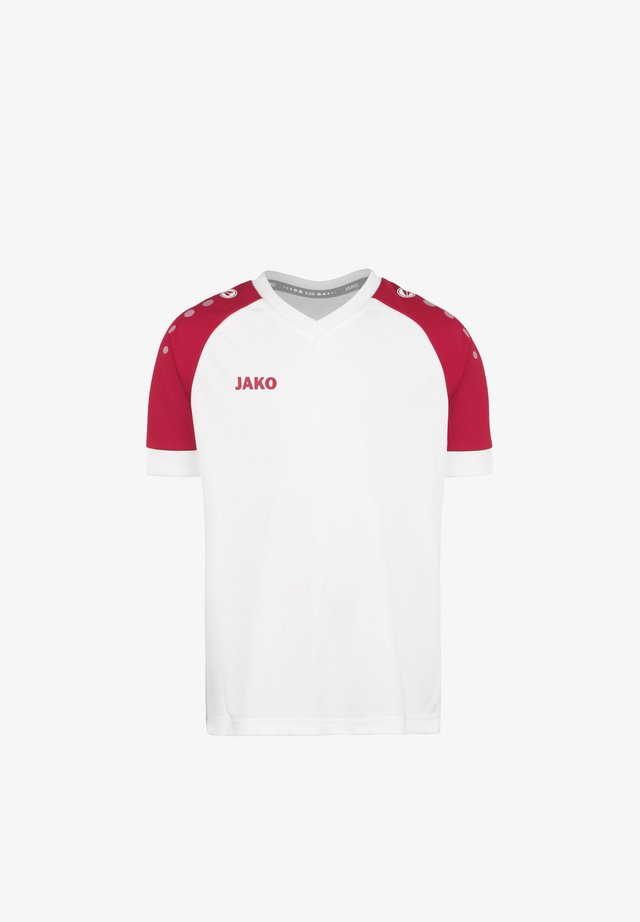 CHAMP  - Print T-shirt - weiss / sportrot