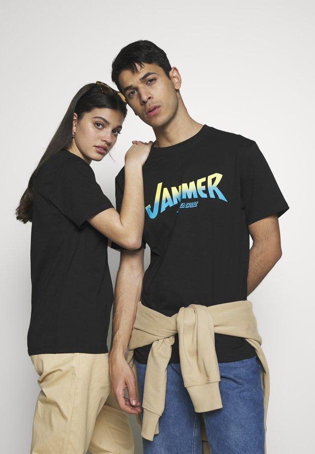 UNISEX JAMMER - Printtipaita - black
