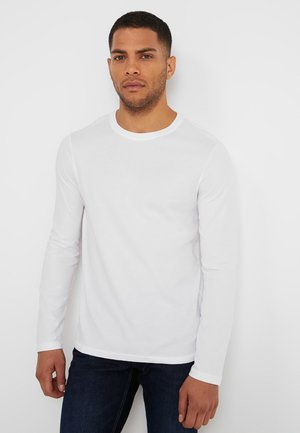 BASIC CREW NECK - Long sleeved top - white
