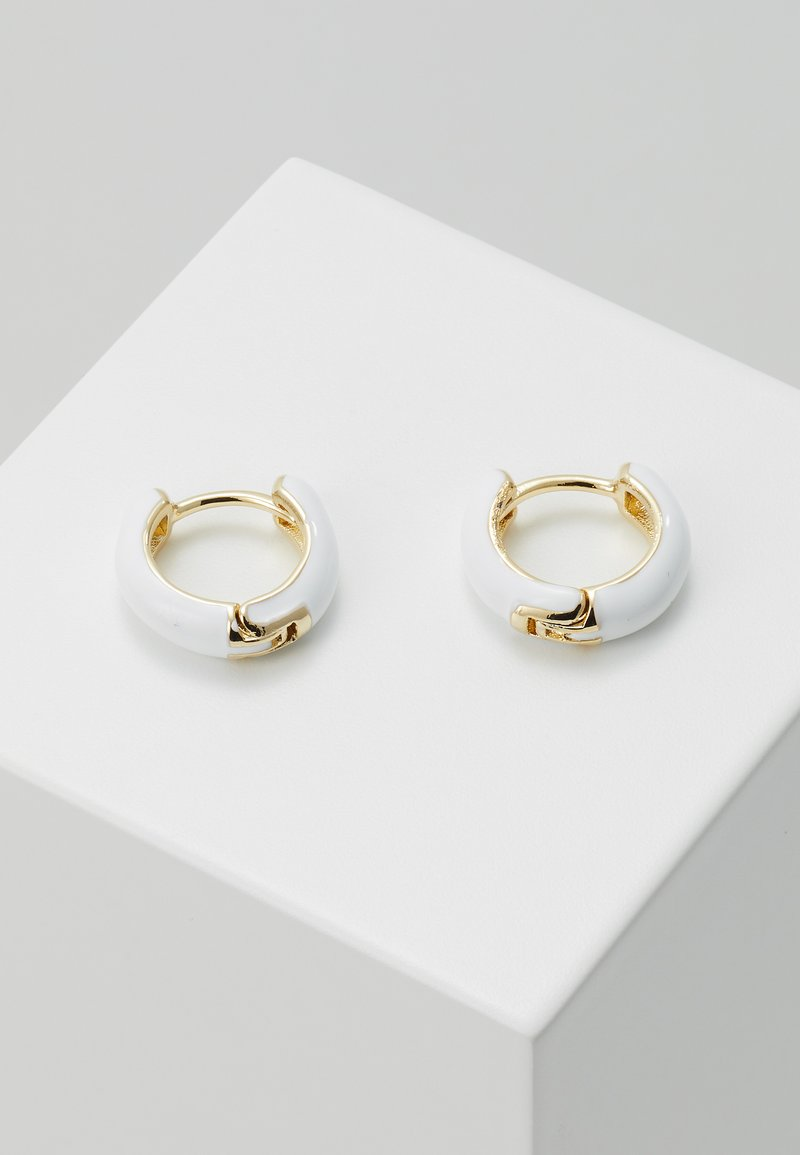 Leslii - Náušnice - gold-coloured/white