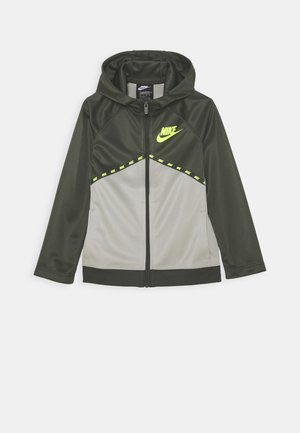 Training jacket - cargo khaki/stone/volt