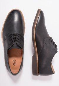 Clarks - ATTICUS LACE - Smart lace-ups - black - 1