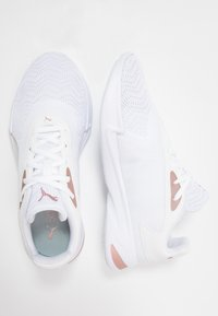 Puma - JARO METAL - Zapatillas de running neutras - white/rose gold - 1