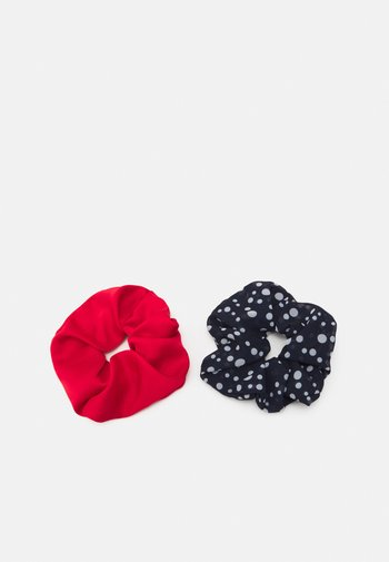 DOTTED SCRUNCHIE 2 PACK - Hair styling accessory - night sky/red