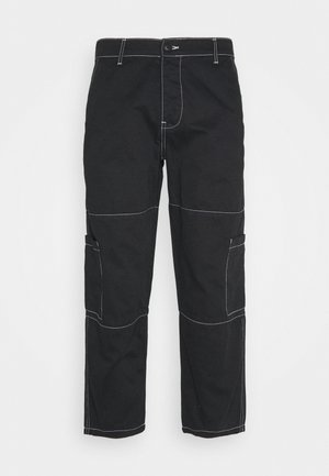 AIDEN TROUSERS - Cargobukse - black