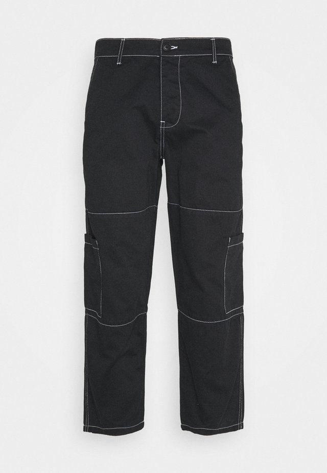 AIDEN TROUSERS - Cargobukser - black