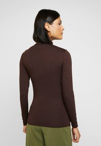 Dorothy Perkins - LONG SLEEVE BUTTON CUFF - Topper langermet - chocolate - 2