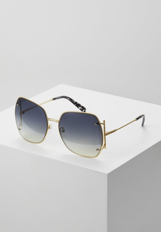 Sunglasses - gold-coloured/grey gradient flash