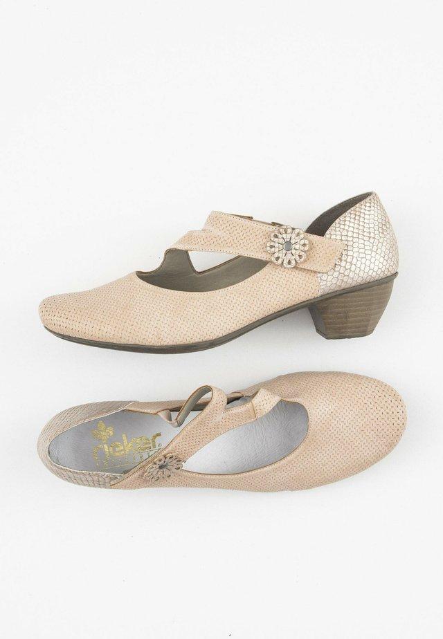 Ballerina's met enkelbandjes - beige