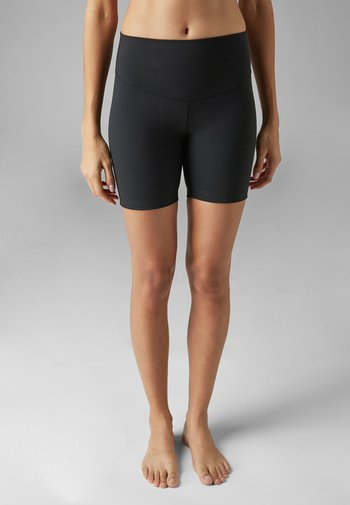 BLACK HIGH WAIST SHORTS - Pants - black