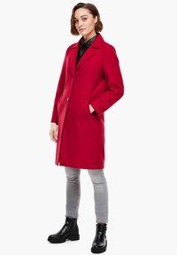 s.Oliver - langarm - Classic coat - dark red - 1