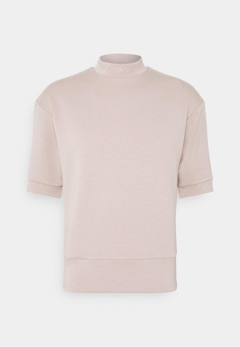 Sixth June - HIGH NECK OVERSIZED TEE - Basic T-shirt - beige