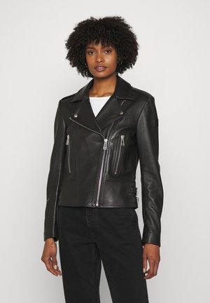 NEW MARVINGT JACKET - Leren jas - black