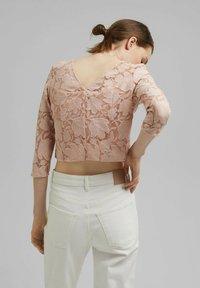 Esprit Collection - LACE SHIRT - Print T-shirt - nude - 2