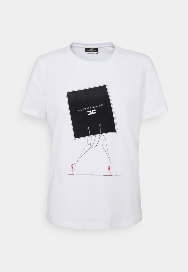 T-shirt con stampa - gesso