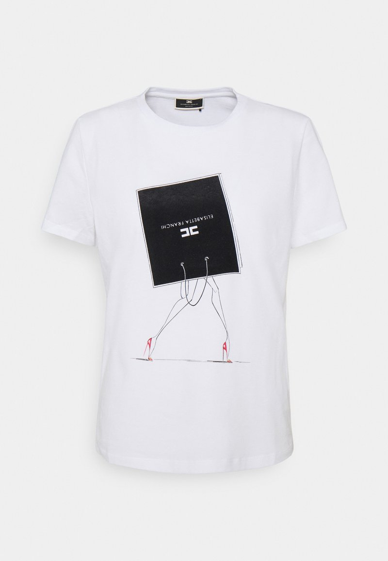 Elisabetta Franchi - Print T-shirt - gesso