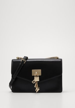 ELISSA SHOULDER - Schoudertas - black/gold-coloured