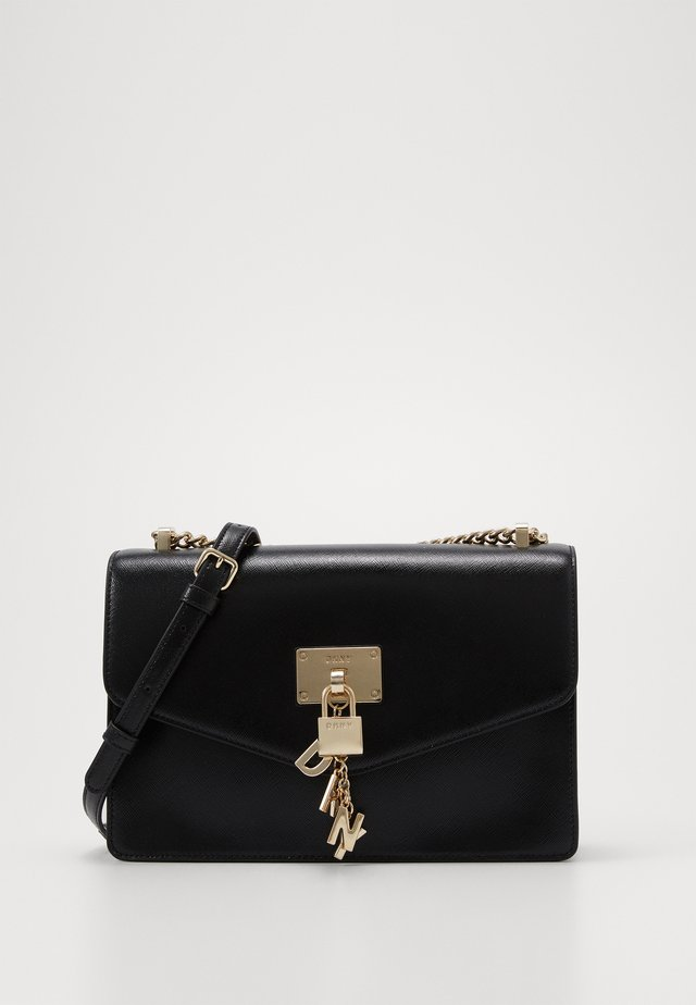 ELISSA SHOULDER - Sac bandoulière - black/gold-coloured