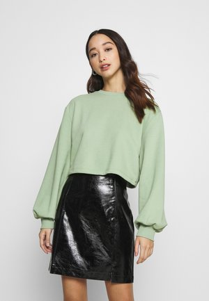 VOLUME SLEEVE CROP - Mikina - green