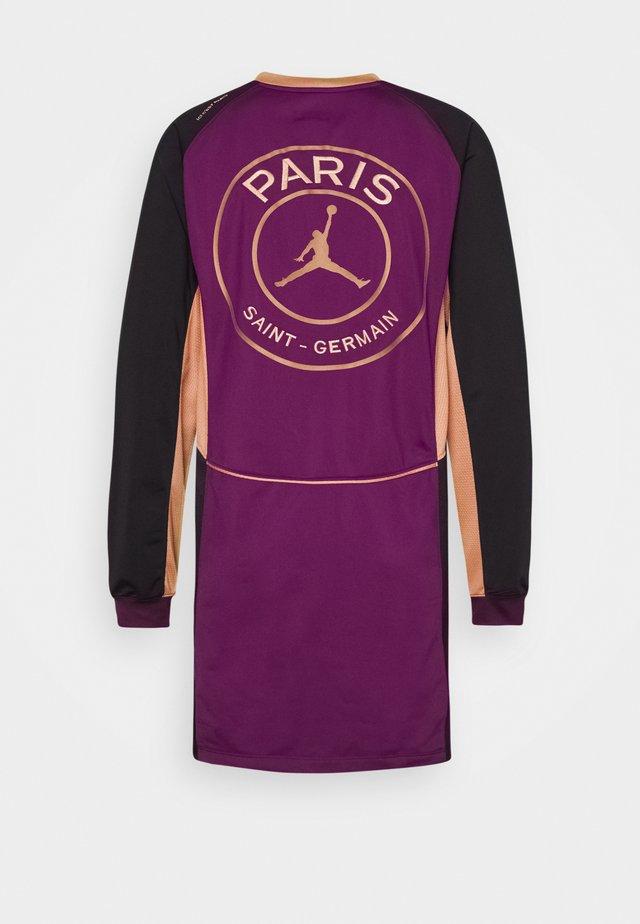 PSG DRESS - Vapaa-ajan mekko - bordeaux/black/club gold