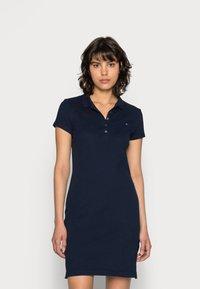 Tommy Hilfiger - HERITAGE SLIM DRESS - Day dress - midnight - 0