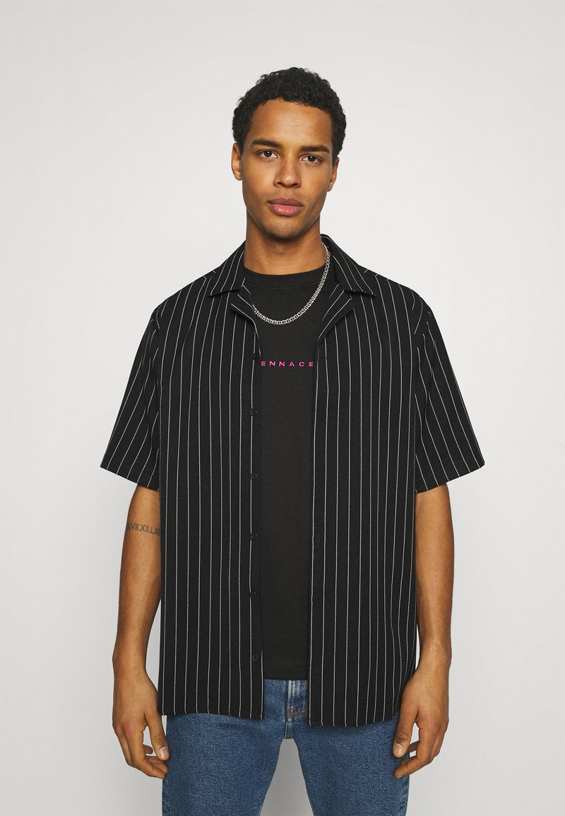 Blood Brother - ASHLAND BOXY UNISEX - Button-down blouse - black