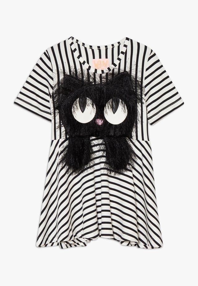 SUMMER SWING - Žerzejové šaty - black/white