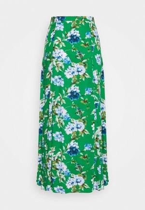 GODET PRINTED MIDI SKIRT - A-line skirt - green