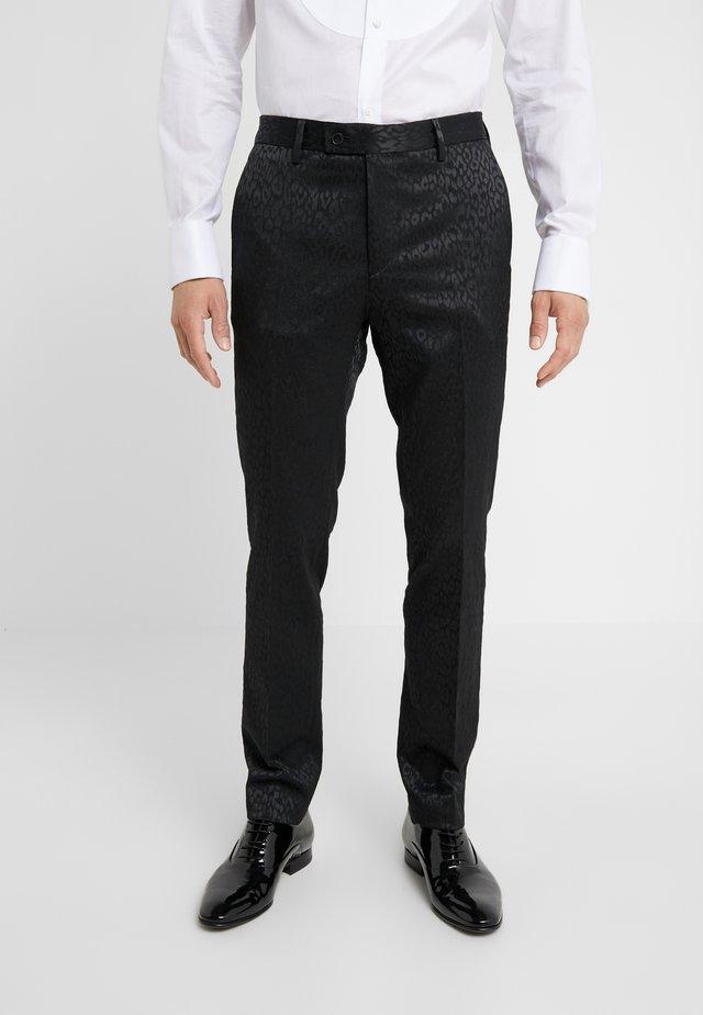 PAUL NORMAL  - Oblekové kalhoty - black