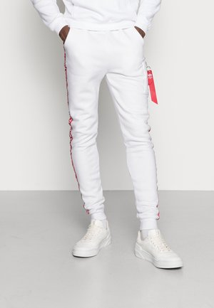 JOGGER TAPE - Tracksuit bottoms - white