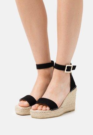 DIJON - Platform sandals - noir